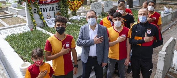 Gençlik ve Spor Bakanımızdan Metin Oktay'ın kabrine ziyaret