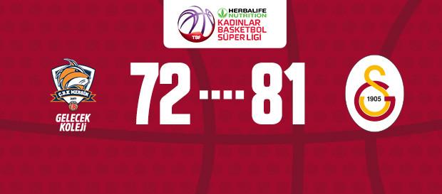 Gelecek Koleji Çukurova Basketbol 72 - 81 Galatasaray