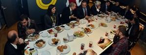 Sanica Boru Elazığspor Yöneticileri Yemekte Ağırlandı