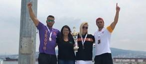 Troya Açık Su Yüzme Yarışı'nda 4 madalya