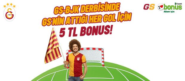 Galatasaray'ımızın her golüne 5 TL Bonus!
