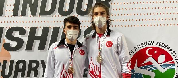 26. Balkan Büyükler Salon Atletizm Şampiyonası'nda 2 altın madalya