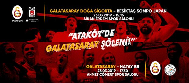 Ataköy'de Galatasaray şöleni