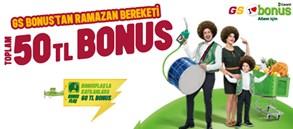 GARANTİ GS BONUS'TAN TOPLAM 50 TL BONUS!