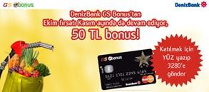 DenizBank GS Bonus'tan Ekim fırsatı Kasım ayında da devam ediyor!