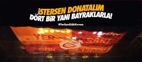 Galatasaray bayrakları köprülere asıldı!