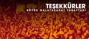 Teşekkürler Büyük Galatasaray Taraftarı