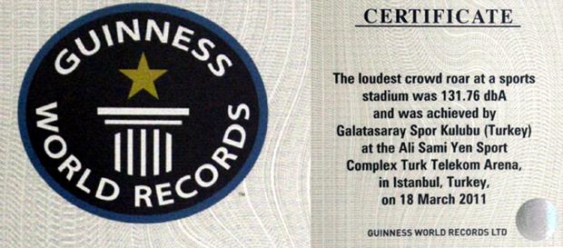 Guinness sertifikası Galatasaray Müzesi'nde