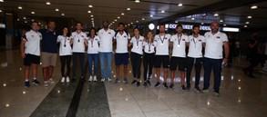 Avrupa Şampiyonası'nda üstün başarılar elde eden milli kürekçilerimiz yurda döndü