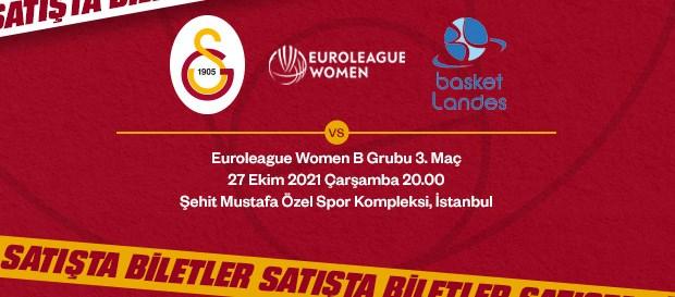Galatasaray - Basket Landes maçının biletleri satışa çıktı!