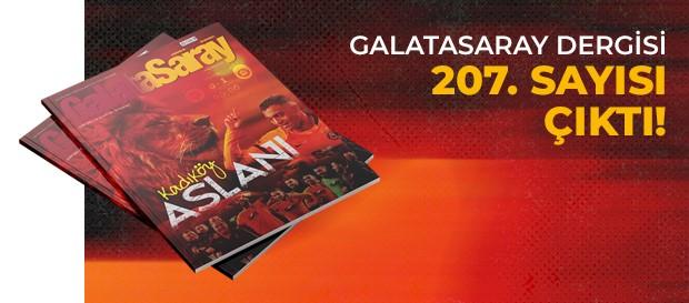 Galatasaray Dergisi'nin 207. sayısı GS Store'larda satışta