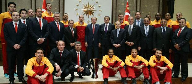 Cumhurbaşkanı Erdoğan, Eurocup Şampiyonu Galatasaray Odeabank'ı kabul etti
