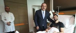 Dışişleri Bakanı Mevlüt Çavuşoğlu'ndan Emre Akbaba'ya ziyaret
