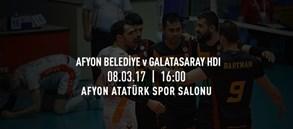 Maça doğru   Afyon Belediye Yüntaş - Galatasaray HDI Sigorta