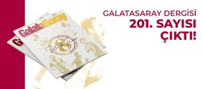 Galatasaray Dergisi'nin 201. sayısı GS Store'larda satışta