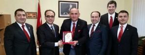 Ukrayna Galatasaraylılar Derneği'nden Büyükelçi Yönet Can Tezel'e Ziyaret