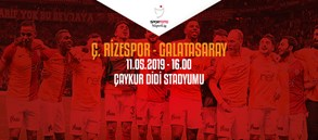 Maça doğru   Çaykur Rizespor - Galatasaray