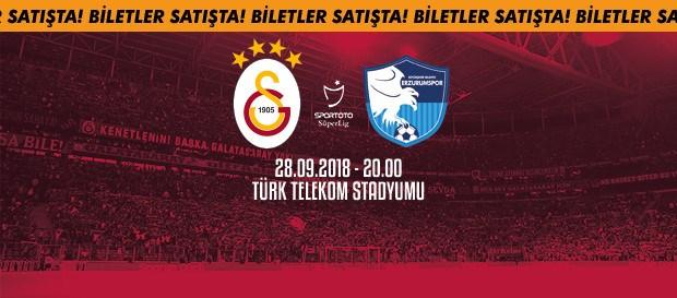 Büyükşehir Belediye Erzurumspor maçı biletleri satışta