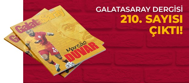 Galatasaray Dergisi'nin 210. sayısı GS Store'larda satışta