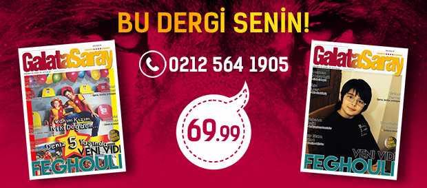 Galatasaray Dergisi'nin kapağında siz de yer alın