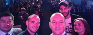 Huawei G7 ve Mate7 Türkiye'de, İlk Selfie Sneijder ve Veysel'den
