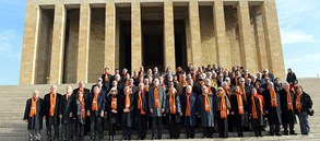 Galatasaray, Ata'nın huzuruna çıktı
