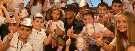 Felipe Melo ile Ülker Fan Zone'da Çocuk Saati