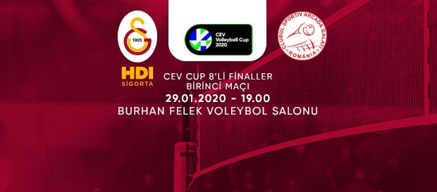 Maça doğru | Galatasaray HDI Sigorta - C.S. Municipal Arcada GALATI