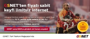 GSNET TEK FİYAT KAMPANYASI VE 4 YILDIZLI FORMA KAMPANYASI BİRARADA!