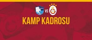 BB Erzurumspor maçı kamp kadromuz