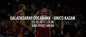 Maça doğru | Galatasaray Odeabank – UNICS Kazan