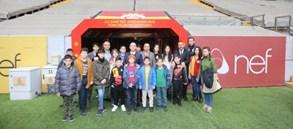 Şehit ve gazilerimizin çocukları Türk Telekom Stadyumu'ndaydı