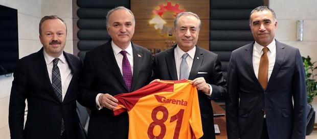 Galatasaray'dan Bakan Özlü'ye Ziyaret