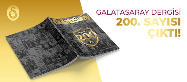 Galatasaray Dergisi'nin 200. sayısı GS Store'larda satışta
