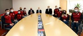 Başkanımız Mustafa Cengiz, Engelsiz Aslanlar ile bir araya geldi