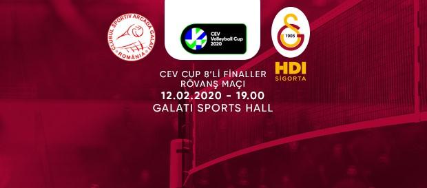 Maça doğru | C.S. Municipal Arcada GALATI - Galatasaray HDI Sigorta