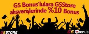 Denizbank GS Bonus'lulara GSStore Alışverişlerinde %10 Bonus Deniz'den!