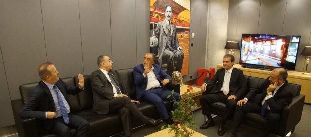 Başkanımız Mustafa Cengiz, Yöneticilerimiz ve Teknik Direktörümüz Fatih Terim Bir Arada
