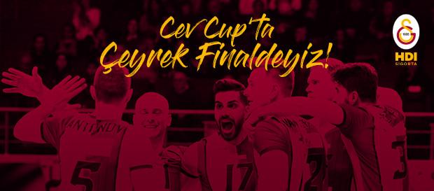 CEV CUP'ta çeyrek finaldeyiz!