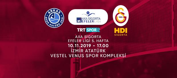 Maça doğru | Arkas Spor - Galatasaray HDI Sigorta