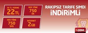 GSMobile Rakipsiz 750 Şifre Kampanyası