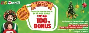 Yılbaşında GS Bonus'ta Boş Yok, Toplam 100 TL Bonus!