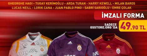 İmzalı Formalar Galatasaray Store'da