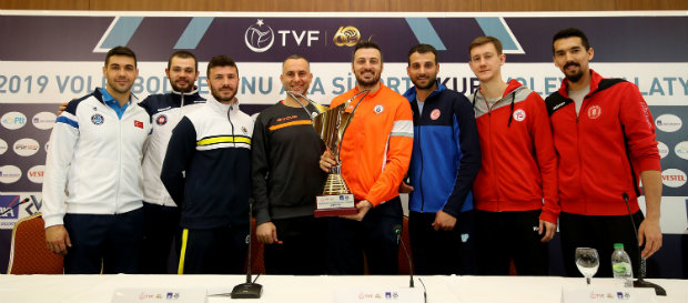 AXA Sigorta Erkekler Kupa Voley'in basın toplantısı yapıldı