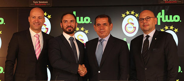 Galatasaray ile Fluo sponsorluk anlaşması imzaladı