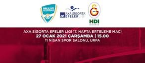 Maça Doğru | Haliliye Belediye - Galatasaray HDI Sigorta