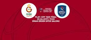 Maça doğru | Galatasaray Doğa Sigorta - Anadolu Efes