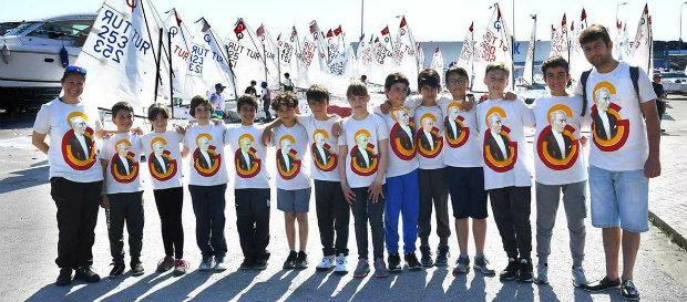 TYF 100. Yıl Atatürk Kupası Optimist Yarışları Samsun'da yapıldı