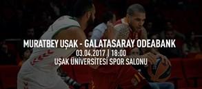 Maça doğru | Muratbey Uşak – Galatasaray Odeabank
