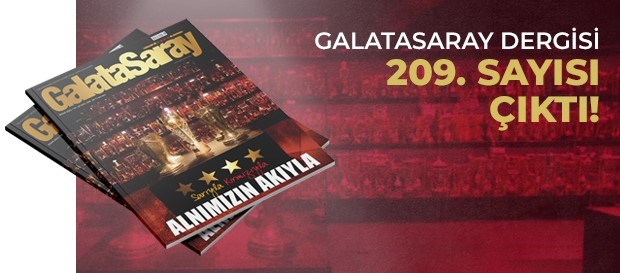 Galatasaray Dergisi'nin 209. sayısı GS Store'larda satışta